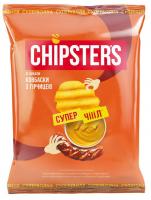 Чіпси Chipsters зі смаком Ковбаски з гірчицею 110г