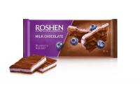 Шоколад Roshen молочний з чорничною нугою 90г