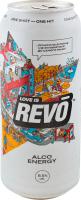 Напій слабоалкогольний енергетичний Revo Alco Energy «Love is…» 8.5% 0,5л ж/б