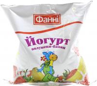Йогурт Фанні Полуниця-банан 1% 400г