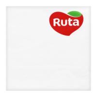 Серветки паперові сервірувальні Ruta 33*33см Білі, 20 шт.