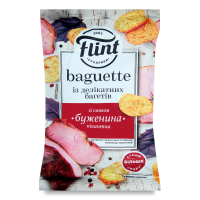 Сухарики Флінт Baguette смак буженини 60г х48