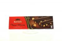 Шоколад Корона чорний з ціл.лісюгоріхом 58% какао 185г х20