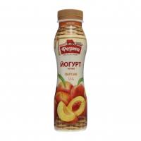 Йогурт Ферма 1,5% персик пет 250г