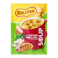 Крем-суп Rolton Курячий з крутонами 17г