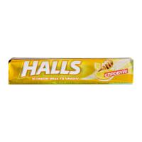 Льодяники Halls мед та лимон 25,2г