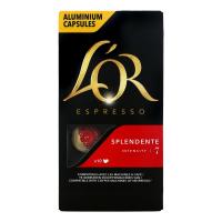 Кава LOR Espresso Splendente смажена мелена в капсулах 52г х12