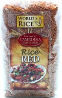 Рис Worlds Rice довгозернистий червоний 0,5кг