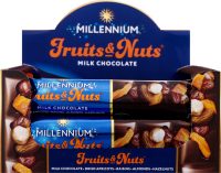 Шоколад Millennium молоч.з горіхами курагою та родзинками 50гх2