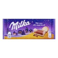 Шоколад Milka мол. смак ванілі та печевом 100г х22
