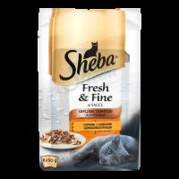Корм Sheba Fresh&Fine мясний мікс 6x50г х6