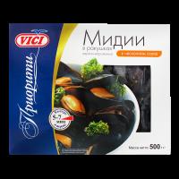 Мідії Vici в мушлях в часниковому соусі в/м 500г