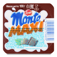 Десерт Zott Monte з шок.та горіхами 100г х6