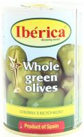 Оливки Iberica зелені з/к 420г