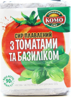 Сир плавлений Комо З томатами та базиліком 55% 90г х24