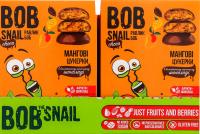 Цукерки Bob Snail Choc манго в чорн.шок. 60г х15