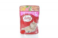Корм Мяу д/котів з індичкою в ніжному соусі 100г х24