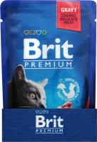 Корм Brit premium з тушкованою яловичиною та горохом 100г х6