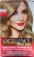 Фарба для волосся LOreal Excellence Blond legeng 8.12