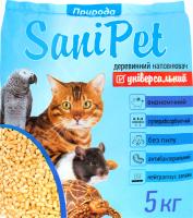 Наповнювач SaniPet древинний д/домашніх тварин 5кг х6