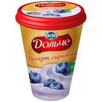 Десерт Lactel Дольче сирковий з наповнювачем Чорниця 3,4% 400г