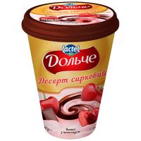 Десерт Lactel Дольче сирковий з наповнювачем Вишня та шоколад 3,4% 400г