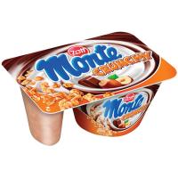 Десерт Zott Monte з молочним шоколадом з горіхами та пластівцями 125г