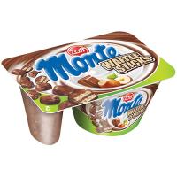 Десерт Zott Monte з шокол.та ліс. горіхами + хрусткі палички 125г