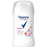 Дезодорант Rexona Білі квіти та лічі тверд.40мл