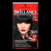 Крем-фарба інтенсивна для волосся Schwarzkopf Brillance №891 Синяво-Чорний