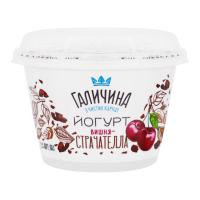 Йогурт Галичина Страчателла 2,5% вишня 180г