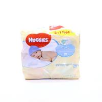 Серветки Huggies Pure дитячі вологі 3*56шт х6