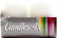 Свічка Bispol циліндр SW40*60см 4шт. біла