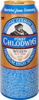 Пиво Furst Chlodwig світле пшеничне ж/б 0,5л х12