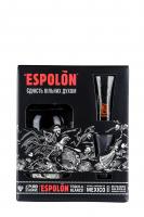 Текіла EL Espolon Blanco 40% 0,75л +2рюмки х3
