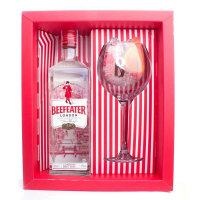 Джин Beefeater London Dry Gin 47% 1л +1 бокал