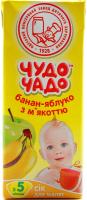 Сік Чудо-Чадо банан-яблуко з м`якоттю 200мл