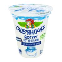 Йогурт Слов`яночка натуральний без цукру 3,5% 260г х24