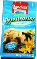 Вафлі Loacker Quadratini Ваніль 125г х18