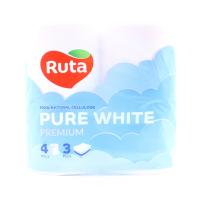 Папір туалетний Ruta Pure white premium 3-х шаровий 4шт х6