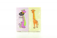 Серветки паперові сервірувальні Silken Duet 33*33см Дитячі, 24 шт.