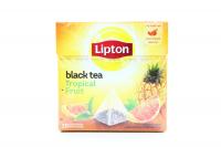 Чай Lipton Tropical Fruit чорний 20пак.*1,8г х12