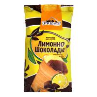 Морозиво Три Ведмеді двошарове Лимонно-шоколадне 80г
