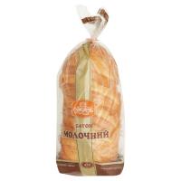 Хліб Рум`янець Батон Молочний порізаний 450г