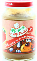 Пюре Фрута пюрешка полуниця та яблуко 190г х10