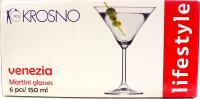 Набір склянок Krosno Lifestyle для мартіні 6*150мл