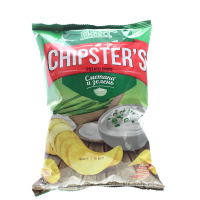 Чіпси Chipster`s Сметана та зелень 70г х20