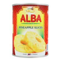 Ананаси Alba кільцями в сиропі з/б 580мл х24