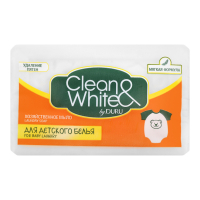 Мило господарське тверде Duru Clean&White для дитячої білизни, 125 г