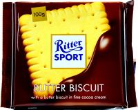 Шоколад Ritter Sport молочний вершкове печиво 100г